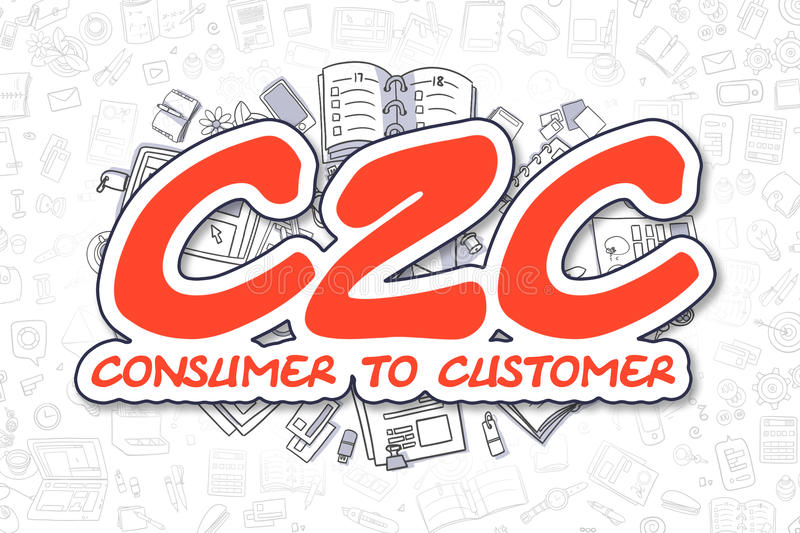 c-c-cartoon-red-word-business-concept-consumer-to-customer-hand-drawn-illustration-doodles-text-consumer-to-customer-doodle-80600954